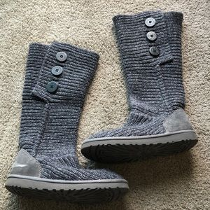 Ugg Knit Gray Boots